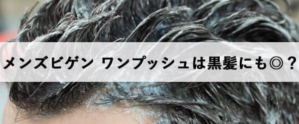 メンズビゲン ワンプッシュは黒髪にも◎?